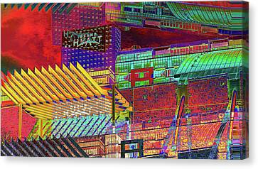 Canvas Print featuring the digital art Where City Shadows Fall by Wendy J St Christopher