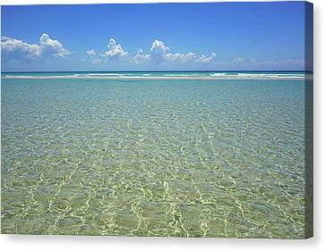Where Crystal Clear Ocean Waters Meet The Sky Canvas Print