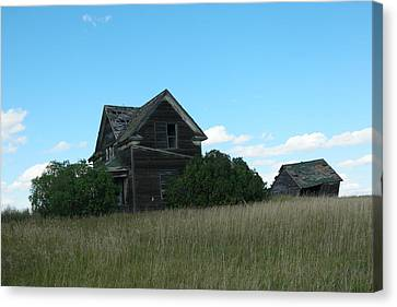 Outmoded Canvas Print - Where Dreams Whirled In Prairie Winds by Jeff Swan