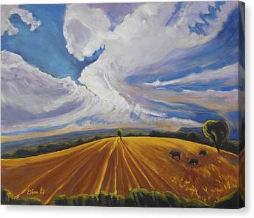 Where Earth Meets Sky Canvas Print