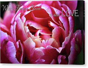Canvas Print featuring the photograph Where Flowers Bloom by Trina Ansel