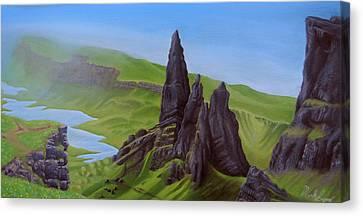 Where Giants Roam The Skye Canvas Print