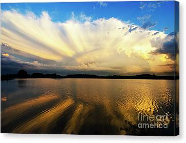Where Heaven Meets The Earth  Canvas Print