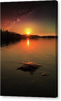Where Heaven Touches The Earth Canvas Print