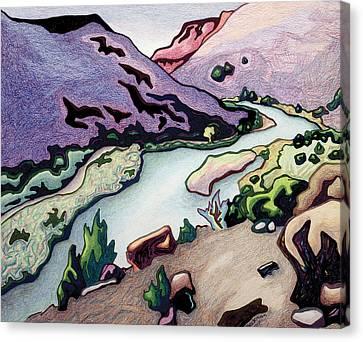 Where I Cross The Rio Grande Canvas Print by Dale Beckman