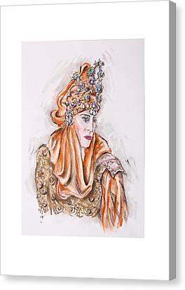 Where Is My Prince Or Donde Esta Mi Principe Canvas Print by Jill Bennett