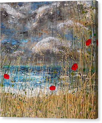 Where Poppies Blow Detail Canvas Print