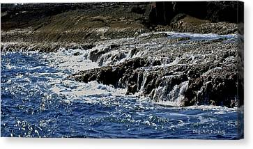 Where Sea And Shore Become One Canvas Print by DigiArt Diaries by Vicky B Fuller