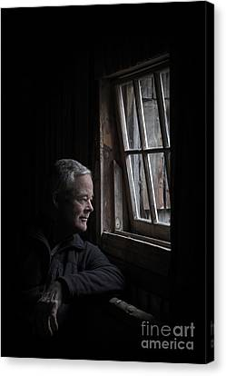 Old Man Canvas Print - Where Silence Hides by Evelina Kremsdorf