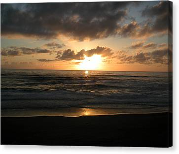 Where Sun And Ocean Meet Canvas Print by Tim Mattox
