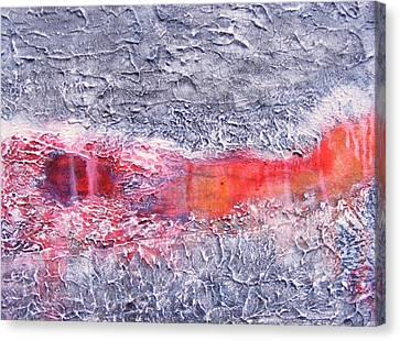 Where The Asphalt Ends Canvas Print by Jean LeBaron