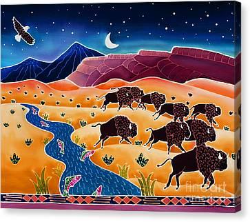 Where The Buffalo Roam Canvas Print by Harriet Peck Taylor