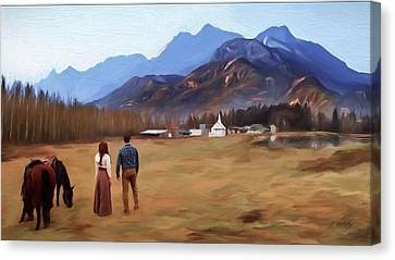 Where The Heart Is - Landscape Art Canvas Print by Jordan Blackstone