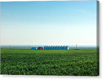 Where The Plains Meet The Sky Canvas Print by Todd Klassy