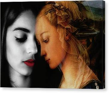 Red Lips Canvas Print - Where The Wild Roses Grow  by Paul Lovering