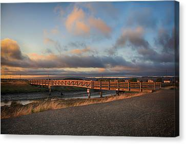Landscape Of Bridges Canvas Print - Where The Years Behind Are Piled Up High by Laurie Search