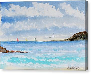 Where There's A Wind, There's A Race Canvas Print