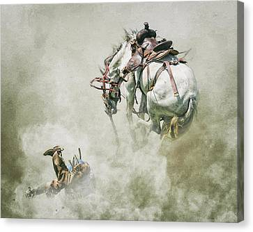 Where They Buck Canvas Print