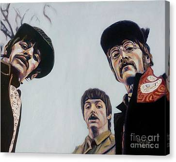 Canvas Print featuring the painting Where's George? by Rebecca Glaze