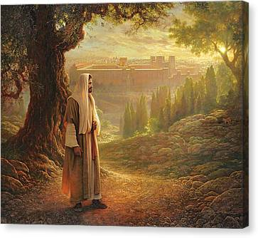 Robes Canvas Print - Wherever He Leads Me by Greg Olsen