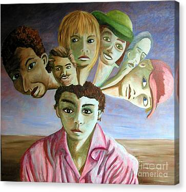Which Of My Sub Personalities Is The Real Me Canvas Print by Tanni Koens