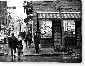Which Way On Cornelia Street Canvas Print by John Rizzuto
