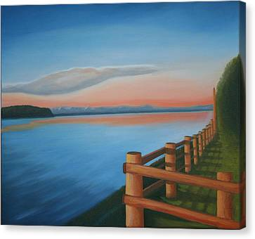 Whidbey Island Sunset Canvas Print by Stephen Degan