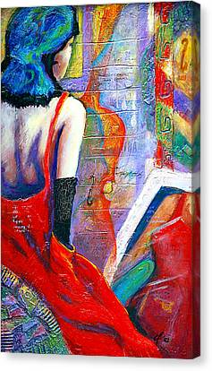 While They Wait Canvas Print by Claudia Fuenzalida Johns