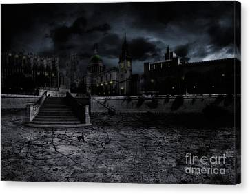 Whilst The City Sleeps Canvas Print by John Edwards