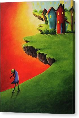 Whimsical Bedroom Painting Canvas Print by Nirdesha Munasinghe
