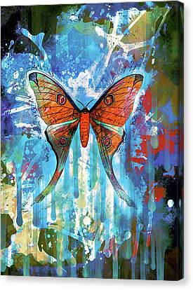 Drips Canvas Print - Whimsical Butterfly Collage by Georgiana Romanovna