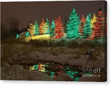 Whimsical Christmas Lights Canvas Print