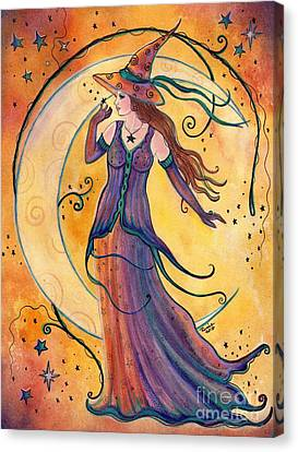 Whimsical Evening Witch Canvas Print