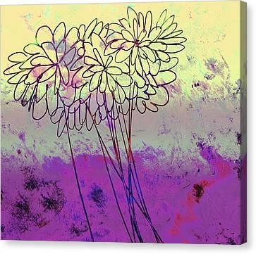 Whimsical Flower Bouquet Canvas Print by Ann Powell