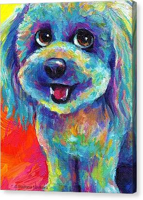 Instagood Canvas Print - Whimsical Labradoodle Painting By by Svetlana Novikova
