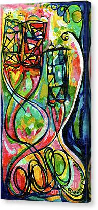 Creve Coeur Streetlight Banners Whimsical Motion 2 Canvas Print