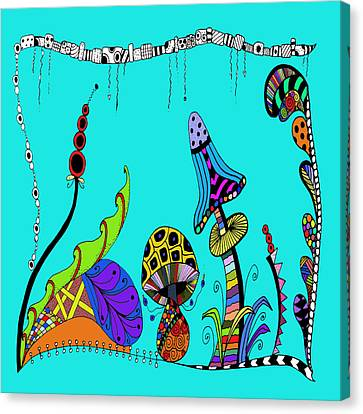 Whimsical Mushrooms Canvas Print