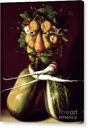 Whimsical Portrait Canvas Print by Arcimboldo