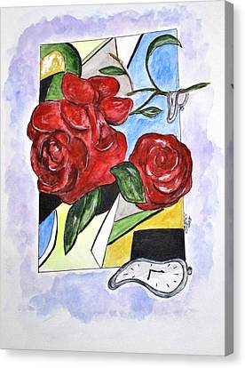 Whimsical Roses Canvas Print