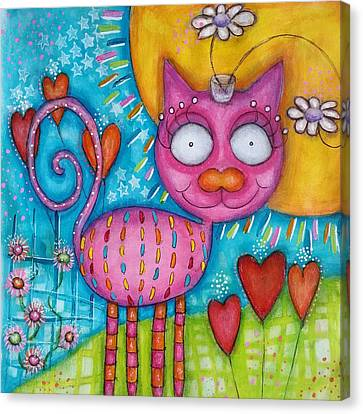 Canvas Print - Whimsicat  by Barbara Orenya
