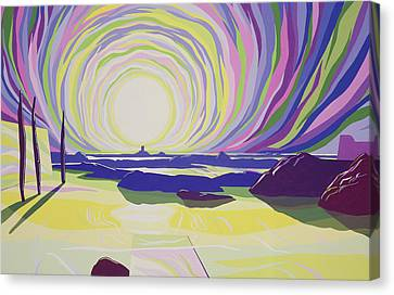 Whirling Sunrise - La Rocque Canvas Print by Derek Crow