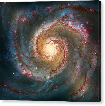 Solar Canvas Print - Whirlpool Galaxy  by Jennifer Rondinelli Reilly - Fine Art Photography