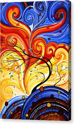 Upbeat Canvas Print - Whirlwind By Madart by Megan Duncanson