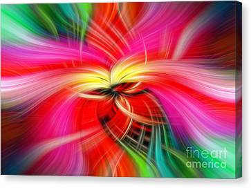 Whirlwind Of Colors Canvas Print by Sue Melvin