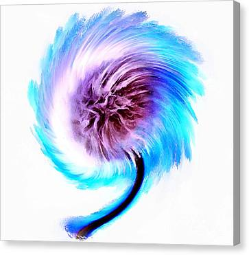 Digital Paint Flower Canvas Print - Whirlwind Wishes by Krissy Katsimbras