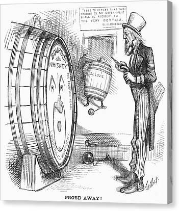 Whiskey Ring Cartoon, 1876 Canvas Print by Granger