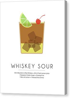 Whiskey Sour Classic Cocktail Minimalist Print Canvas Print