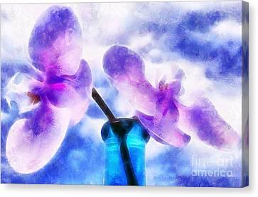 Digital Paint Flower Canvas Print - Whisper In The Morning by Krissy Katsimbras