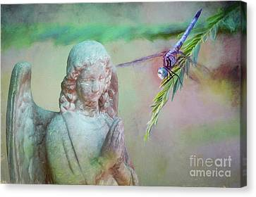 Whisper Of Angel Wings Canvas Print by Bonnie Barry