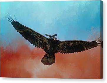Whisper Of The Eagle Rider Canvas Print